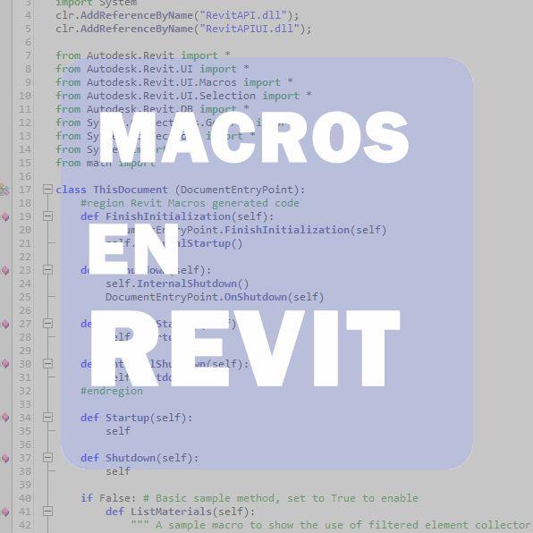 MACROS EN REVIT